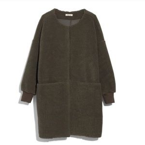 Madewell Bonded Sherpa Cocoon Coat S